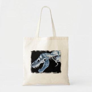 Blue & Black T-Rex X-Ray Bones Photo Tote Bag