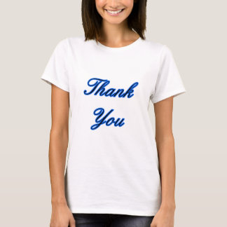 Blue Black Thank You Design The MUSEUM Zazzle Gift T-Shirt