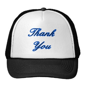 Blue Black Thank You Design The MUSEUM Zazzle Gift Trucker Hat