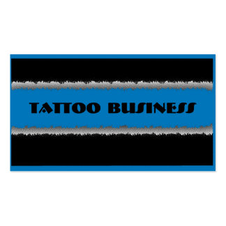 Blue black theme tattoo business custom cards Double-Sided standard business cards (Pack of 100)