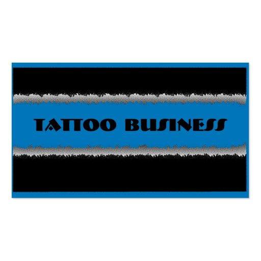 Blue black theme tattoo business custom cards business
