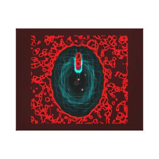 blue, black, water, drop, light, light bulb, idea, canvas print