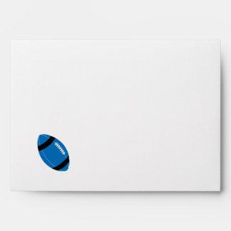 Blue, Black, & White Football Theme Envelope