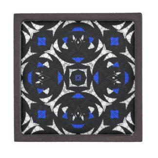 Blue Black White Keolidescope Jewelry Box
