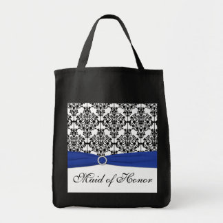 Blue Black White Maid of Honor Tote Bag