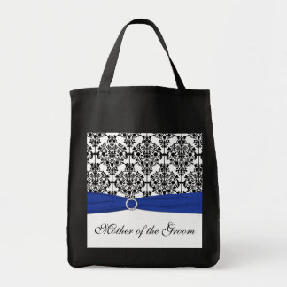 Blue Black White Mother of the Groom Tote Bag