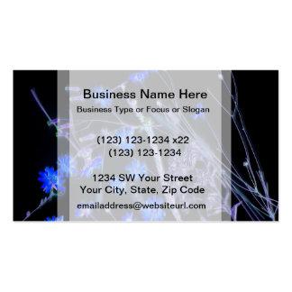 Blue Black wildflower scan design Business Card