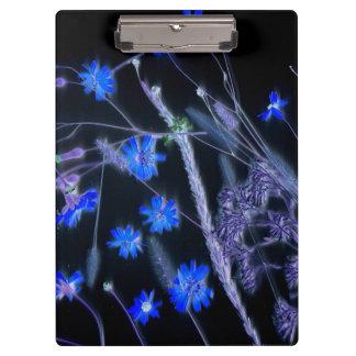Blue Black wildflower scan design Clipboard