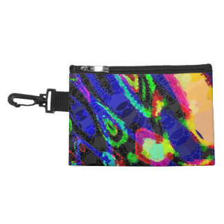 Blue Black Yellow Abstract Accessory Bags
