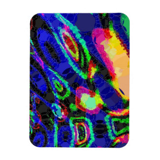 Blue Black Yellow Abstract Magnet