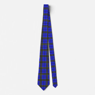 Blue Black Yellow Tartan Neck Tie