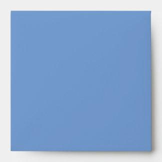 Blue & Black Zebra Glitter Baby Shower Envelope
