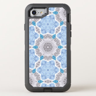 Blue Black Zebra Pattern OtterBox Defender iPhone 7 Case