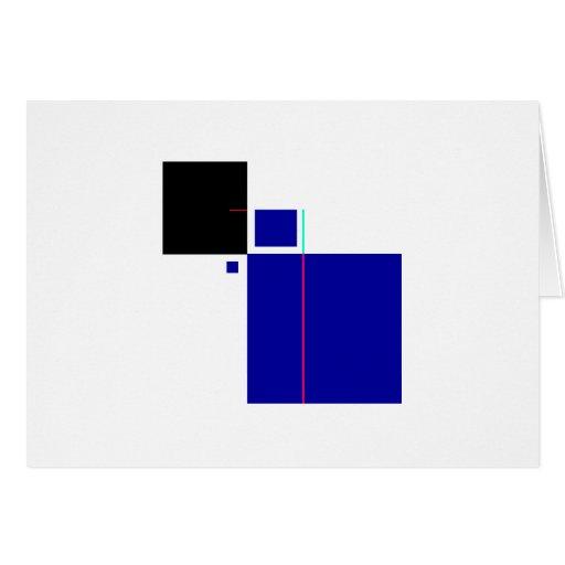 Blue&BlackCube Greeting Card