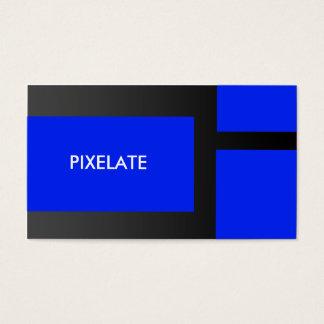 Blue block graphic design business cards
