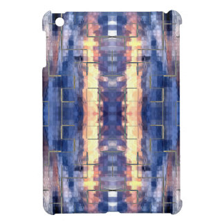 Blue Block Tile iPad Mini Cases