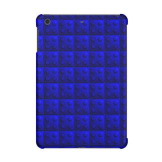 Blue blocks pattern iPad mini case
