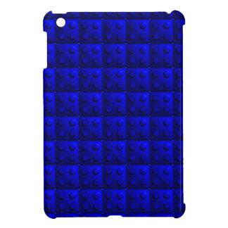 Blue blocks pattern iPad mini cover