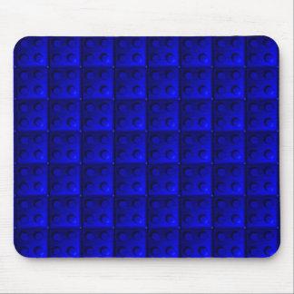 Blue blocks pattern mouse pad