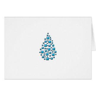 Blue Blocky Drop Card