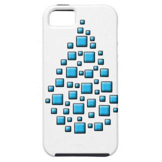 Blue Blocky Drop iPhone SE/5/5s Case