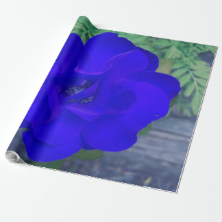 BLUE BLOOD ROSE Glossy Wrapping Paper