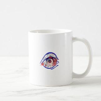 Blue Bloodshot Eye with Cracks Coffee Mug