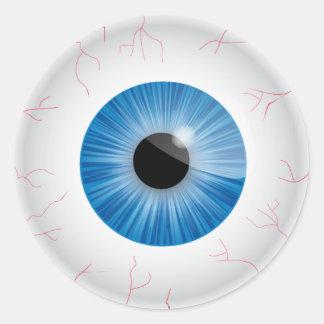 Blue Bloodshot Eyeball Sticker