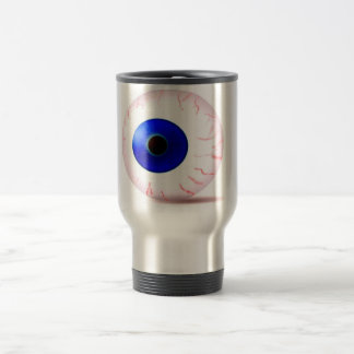 Blue Bloodshot Eyeball Travel Mug