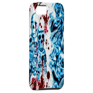 Blue Bloody Skull iPhone 5 Case