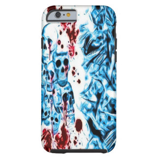 Blue Bloody Skull iPhone 6 case