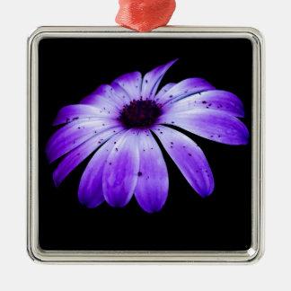 Blue Bloom Metal Ornament