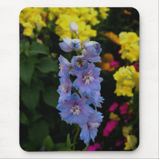 Blue Blooms Photograph Mouse Pad