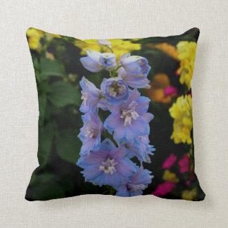 Blue Blooms Photograph Throw Pillow