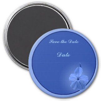 Blue Blossom 3 Inch Round Magnet