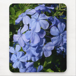 Blue Blossom Bunch Mouse Pad