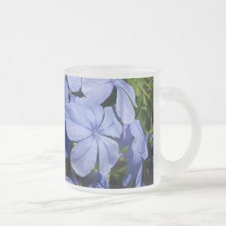 Blue Blossom Bunch 10 Oz Frosted Glass Coffee Mug