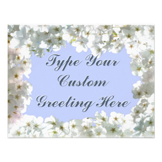 Blue Blossom Invitations Personalized RSVP Cards