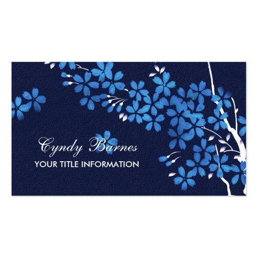 Blue Blossoms Business Card