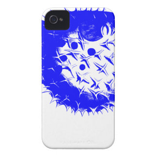 Blue BlowFish Multi-color Coral Sea Vibrant Color iPhone 4 Cover