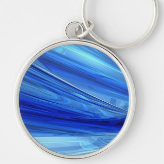 Blue Blown Glass Keychain