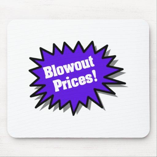 Blue Blowout Prices Mousepads