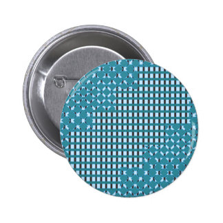 Blue blu Sparkle sq rect pattern LOWPRICE STORE 2 Inch Round Button