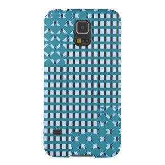 Blue blu Sparkle sq rect pattern LOWPRICE STORE Galaxy S5 Case