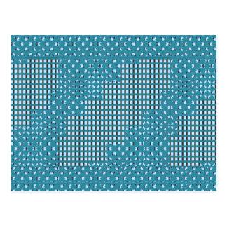 Blue blu Sparkle sq rect pattern LOWPRICE STORE Postcard