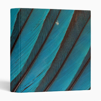Blue Blue-Bellied Roller Feather Design 3 Ring Binder