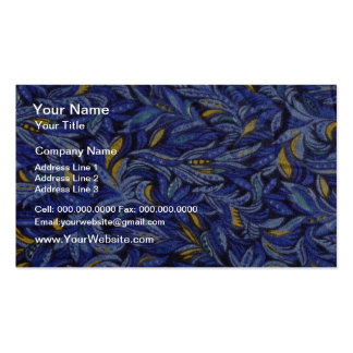 Blue Blue flowers on black flowers Double-Sided Standard Business Cards (Pack Of 100)