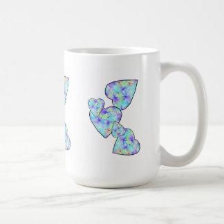 Blue, blue heart coffee mugs