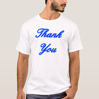 Blue Blue Thank You Design The MUSEUM Zazzle Gifts T-Shirt