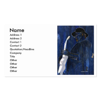 Blue Blues Guitar player painting acrylic Double-Sided Standard Business Cards (Pack Of 100)